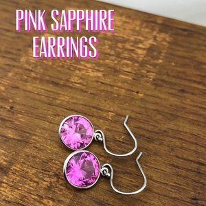 Pink Sapphire dangle earrings
